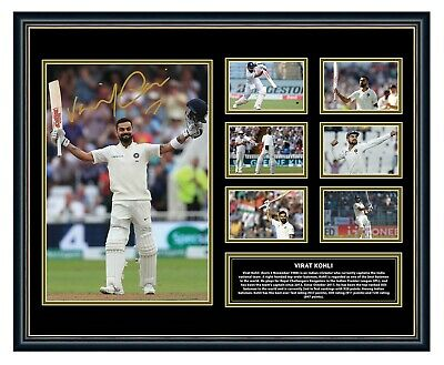 AU99.99 • Buy Virat Kohli India Signed Poster Photo Limited Edition Framed Memorabilia