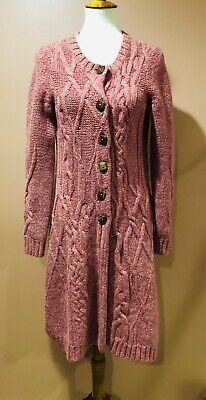 $ CDN66.89 • Buy Anthropologie Far Away From Close Coiled Cableknit Sweater Coat Cardigan Size M