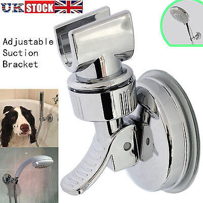 Adjustable Bracket Suction Shower Head Handset Holder Bathroom Wall Mount UK • 5.39£