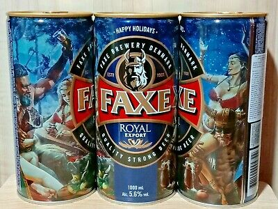 $ CDN7.95 • Buy Empty Can Of Danish Beer FAXE ROYAL EXPORT Christmas Edition HAPPY HOLIDAYS 2019