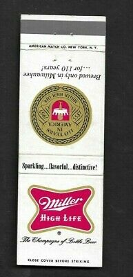 $2.39 • Buy Matchbook Cover Milwaukee WI Miller Brewing Co Miller High Life Beer *2601