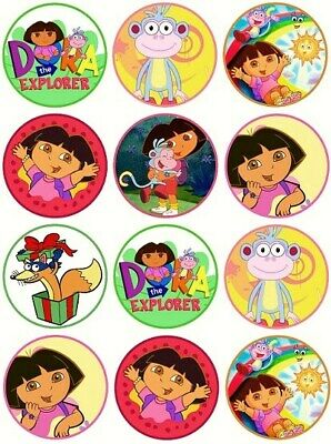 24 Dora The Explorer Cake Toppers Edible Party Decorations • 1.99£