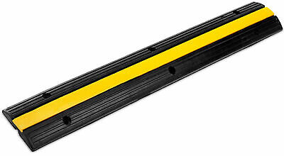 Rubber 1-Channel Cable Protector Car Ramp Bump Safety Cover Heavy Duty Max 7.5T • 27.99£