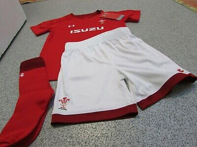 Under Armour Wales WRU Rugby Home Replica Baby Kit 2018/19, 6-12 Months • 19.99£