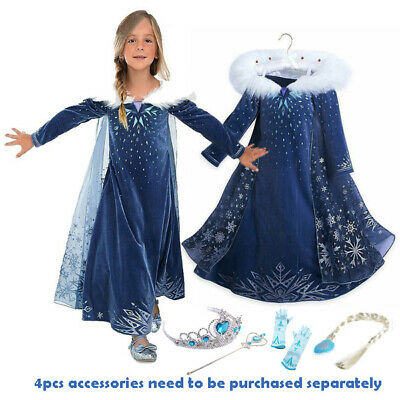 AU28.95 • Buy 2019 New Release Girls Frozen 2 Elsa Costume Party Birthday Dress Size 2-10Years