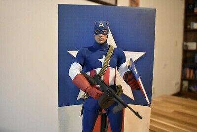 $255 • Buy HOT TOYS MMS205 Exclusive Captain America Star Spangled Man