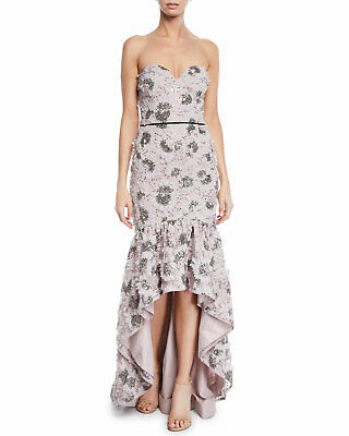 $59.99 • Buy Aidan Mattox Women's Strapless Petal Embroidered Hi-Low Gown Size 2 MSRP $440