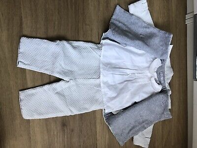 £18 • Buy Patachou Baby Unisex White & Grey Outfit/ Occasion-wear/ 6 Month