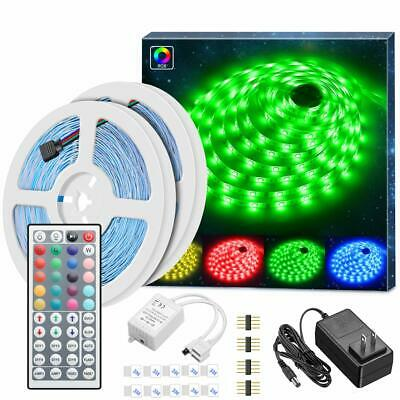 Led Strip Lights With Remote Controller Box Support Clips For Room Bedroom Etc • 49.99$