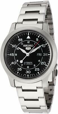 £99 • Buy Seiko 5 Automatic Black Dial Silver Stainless Steel Mens Watch SNK809K1 RRP £169