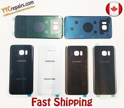 $ CDN14.99 • Buy OEM Samsung Galaxy S7 Edge G935 Rear Glass Back Cover Replacement + Adhesive