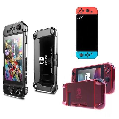 $7.85 • Buy For Nintendo Switch Clear Case 3 Parts Anti-Scratch Protective Hard Skin Shell