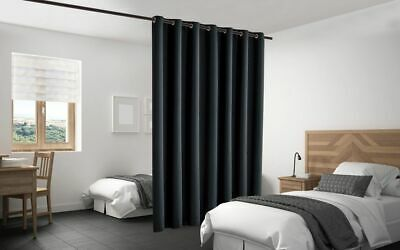 $77 • Buy Blackout Room Divider Curtain Panel Privacy Screen Thermal Insulated Black Color
