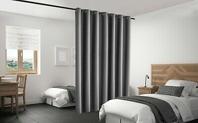 $77 • Buy Blackout Room Divider Panel Privacy Screen Thermal Insulated Grey Color 7 Sizes
