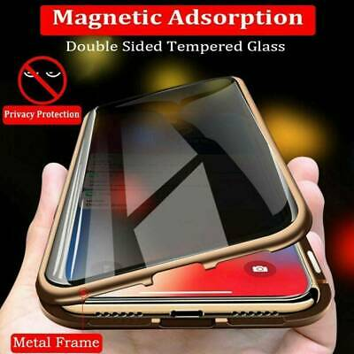 AU16.14 • Buy 360° Privacy Anti-Spy Magnetic Glass Case Cover For Samsung Galaxy S10 S9 S8Plus
