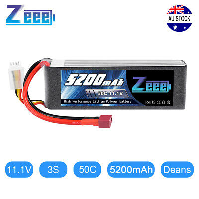 AU49.99 • Buy Zeee 5200mAh 3S 50C 11.1V Deans LiPo Battery For RC Car Helicopter Airplane Boat