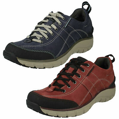 £59.99 • Buy Ladies Clarks Wave Walk Lace Up Sports Walking Outdoor Shoes Trainers Wave Roam