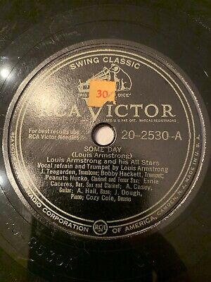 Louis Armstrong-Some Day/Fifty Fifty Blues/RCA Victor 20-2530 10  78 RPM Record • 10$