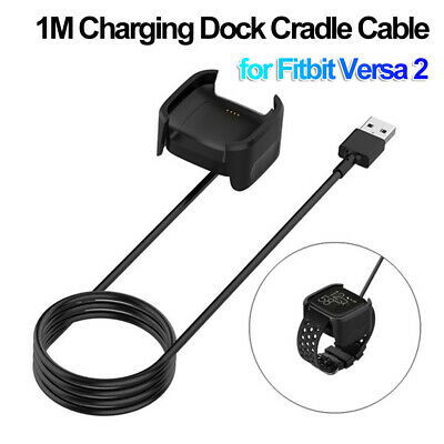 $ CDN6.51 • Buy Cradle USB Charger Cable Fast Charging Dock Power Adapter For Fitbit Versa 2