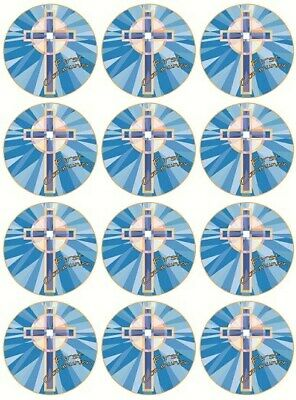 24 1st Holy Communion Boy First Cake Toppers Edible Party Decorations • 1.99£