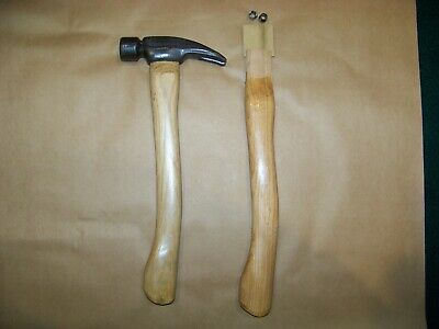 View Details HART Forged Titanium Hammer 11oz  Finish  W/ Two Curved Hickory HandleS • 40.00$