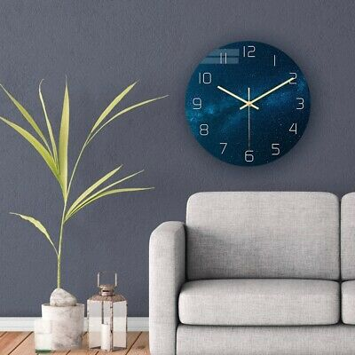 AU25.59 • Buy 1pc Wall Clock Acrylic UV Print Decorative Clock Without Battery For Office Home