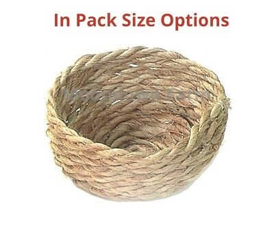 QUALITY COIR NEST LINERS FOR PANS SUITABLE FOR CANARY, FINCH BIRDS In Options • 13.99£