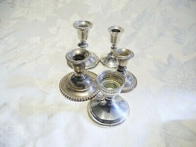$ CDN132.53 • Buy LOT Of 5 PCS WEIGHTED STERLING SILVER CANDLE HOLDERS