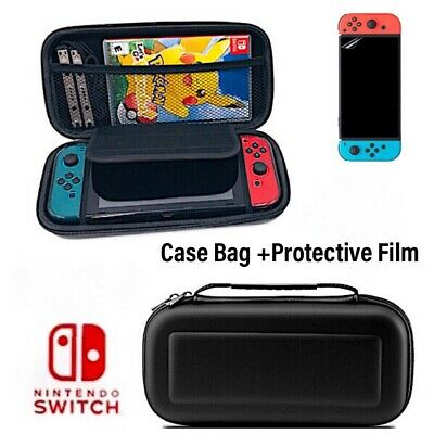 $10.95 • Buy For Nintendo Switch Case Bag Hard Shell Travel Carrying  Pouch+ Protective Film