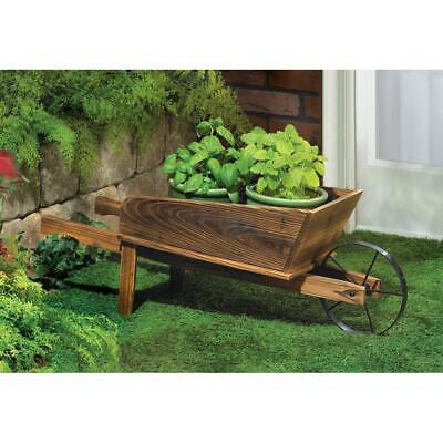Country Flower Cart Planter - WOOD And METAL - Free Shipping ! • 34.75$
