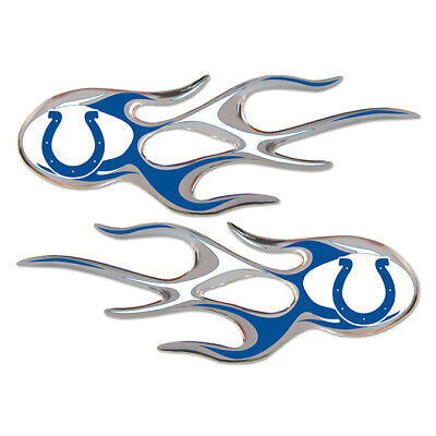 $2 • Buy NFL: Indianapolis Colts Micro Flames Team Graphics Decal - Pack Of 2 - $2.00
