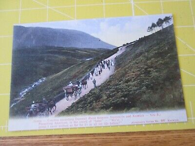 Postcard Of Coaches Ascending Dunmail Raise Between Ambleside And Keswick • 1.99£