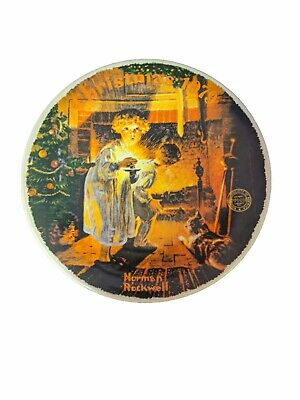 $ CDN24.25 • Buy NORMAN ROCKWELL Christmas 1979 Plate  SOMEBODY'S UP THERE