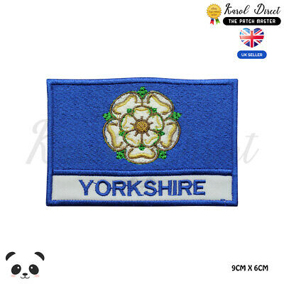£1.99 • Buy YORKSHIRE England County Flag With Name Embroidered Iron On Sew On Patch Badge