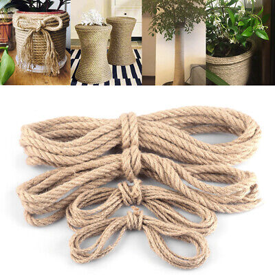 Jute Rope Thick Twine Hemp Cord For DIY Arts Crafts Garden Gift Packing Twining • 9.54£