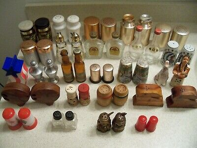 Vintage Lot Of 24 Sets~Salt & Pepper Shakers~Indians, Beer, Liquor, Aluminum • 49.88$
