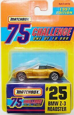 MATCHBOX GOLD BMW Z-3 ROADSTER #25 1997 EDITION  Of 10,000 75 CHALLENGE WITH BOX • 2.25$