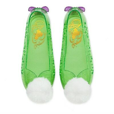New DISNEY STORE Tinker Bell Costume Shoes 7/8,9/10,13/1,2/3 Girls • 19.97$