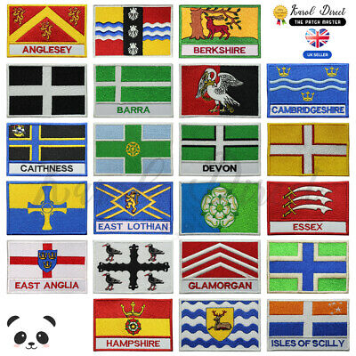 £1.99 • Buy UK County Flags Embroidered Sew/Iron On Patch Badge For Clothes Etc