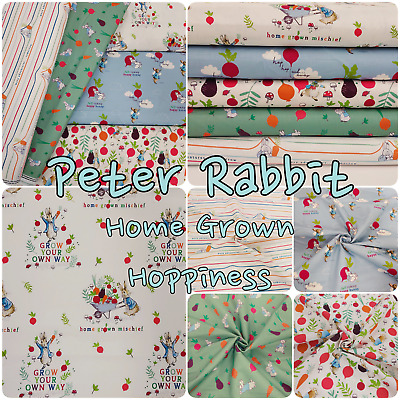 £3.45 • Buy Peter Rabbit Cotton Fabric London England Themed Beatrix Potter For Patchwork