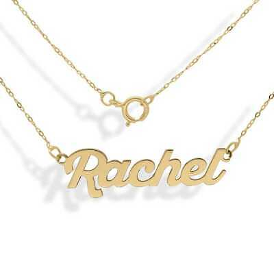Personalised 9ct Gold Customised Any Name Pendant Necklace Trace Chain Gift Box • 129.99£