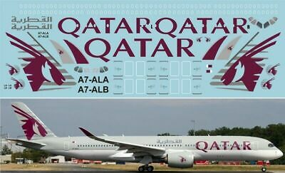1:144 PAS-DECALS 350-02 Airbus A-350 Qatar Airlines For Revell Kit • 10.73£