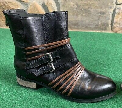 $55 • Buy Everybody By Bz Moda Low Boots Leather Black Euro Size 38.5 Us Size 8.5