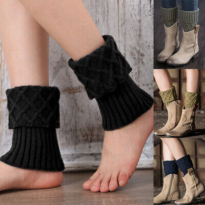 £4.95 • Buy Fashion Winter Womens Leg Warmers Crochet Knitted Boot Ankle Toppers Short Socks