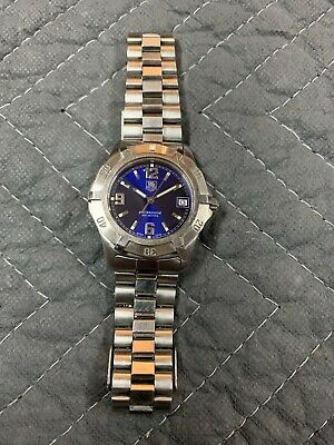 Tag Heuer Men's 2000 Professional Watch WN1112 Blue Dial 38mm • 136$