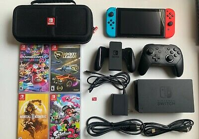 Nintendo Switch 32GB Console Bundle (Games, SD Card, And Extra Pro Controller)  • 290$