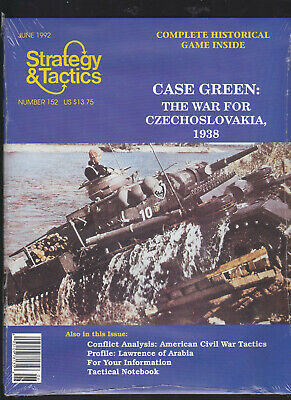 Strategy & Tactics No.152 Case Green Czechoslovakia 1938 Unpunched Copy • 10$