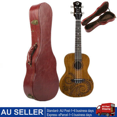 AU59.07 • Buy Ukulele Hard Case Box Portable Wooden Suitcase 26inch & Lock For Tenor Ukulele