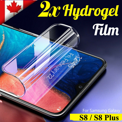 $ CDN5.49 • Buy For Samsung Galaxy S8 S8 Plus 2x Full Coverage Hydrogel Screen Protector Film