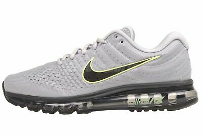 $117.95 • Buy Nike Air Max 2017 Running Shoes Wolf Gray Black Platinum 849559-012 Men's NEW